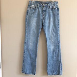 A&F | Distressed Bootcut Denim Jean, Size 8 Long